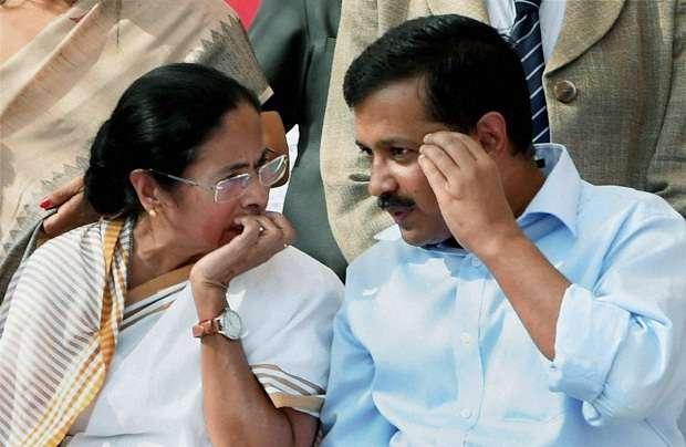 Mamata with Kejriwal