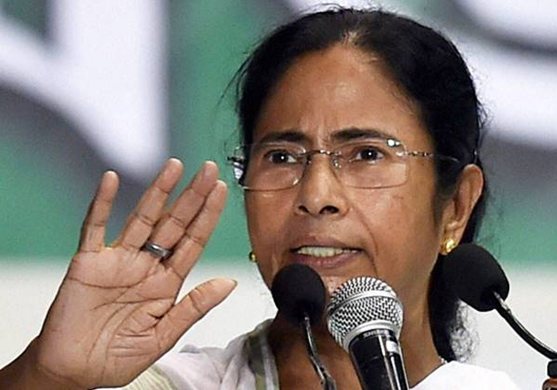 File pic of WB CM Mamata Banerjee speaking to media in
