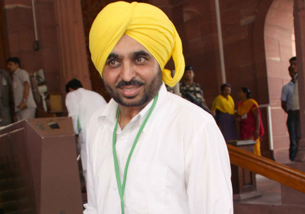 File pic - Bhagwant Mann outside Parliament