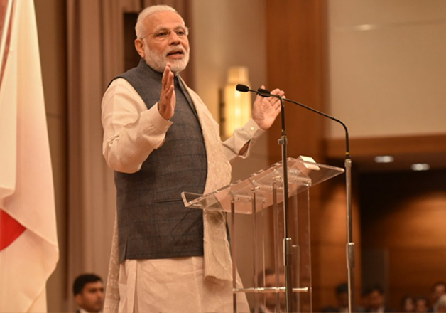 PM Modi addresses Indian community in Japan's Kobe