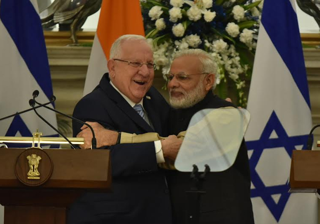 PM Modi with President Reuven Rivlin at joint media