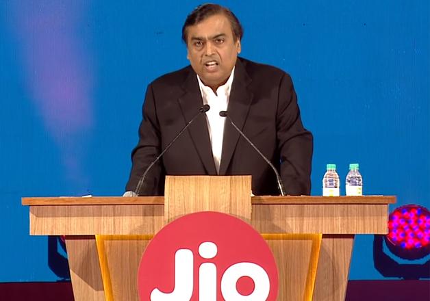 File pic - Mukesh Ambani speaks at the launch of Reliance
