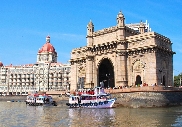 File pic of Hotel Taj and Gateway of India