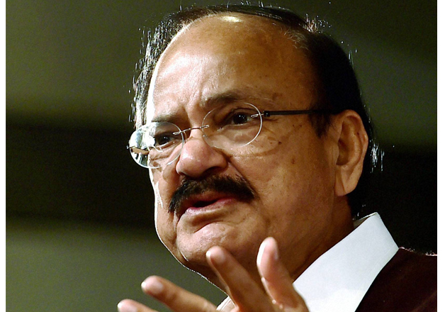 Union Minister Venkaiah Naidu speaks at an event in New