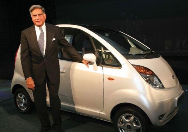 File pic - Ratan Tata poses with Tata Nano at an event