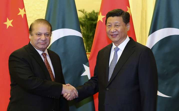 Pakistan PM Nawaz with Chinese President Xi