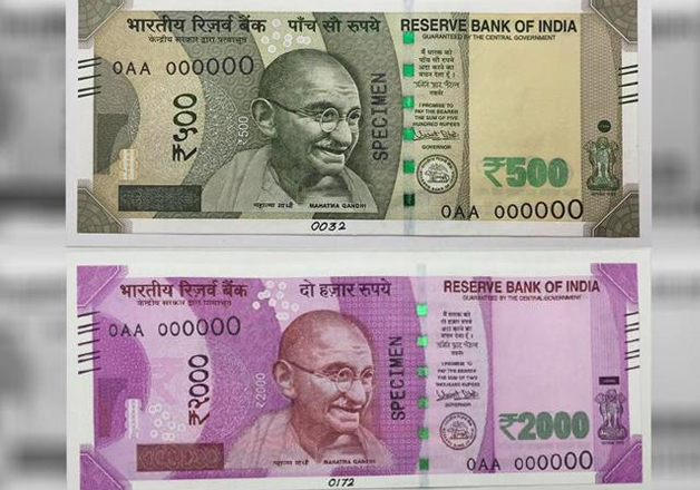Pic of Rs 500 and Rs 2000 notes