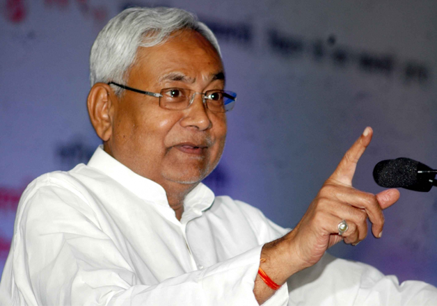 File pic of Bihar CM speaking at an event in Patna