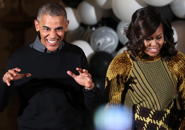 Obamas dance to Michael Jackson's 'Thriller' at WH
