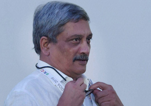 File pic - Defence Minister Manohar Parrikar at BRICS