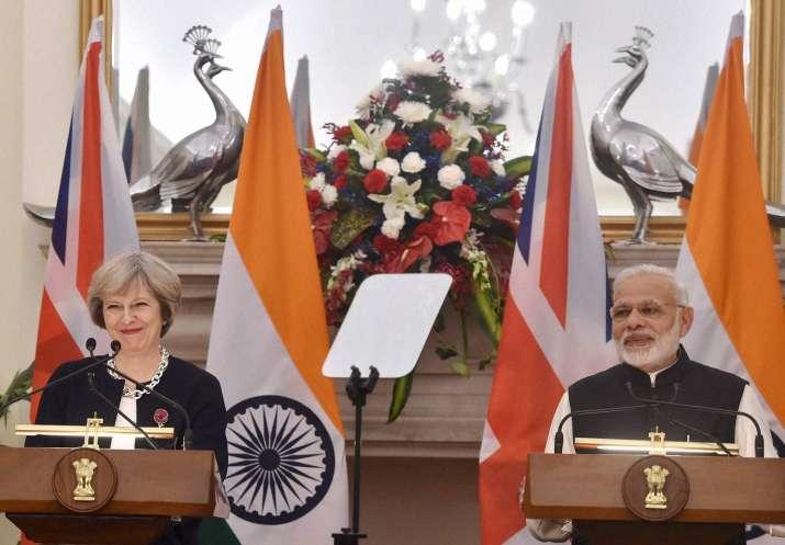PM Modi and British PM Theresa May