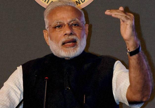 File pic - PM Narendra Modi speaks at an event in New Delhi