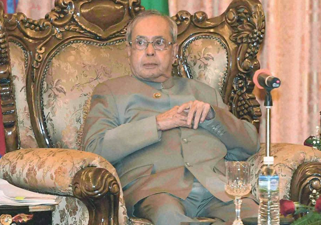 File pic - President Pranab Mukherjee in Nepal on three-day