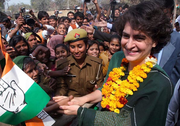 File pic - Congress leader Priyanka Gandhi during a