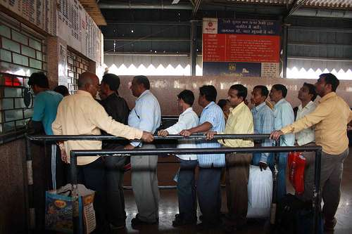 Passengers face trouble at railway ticket counters due to