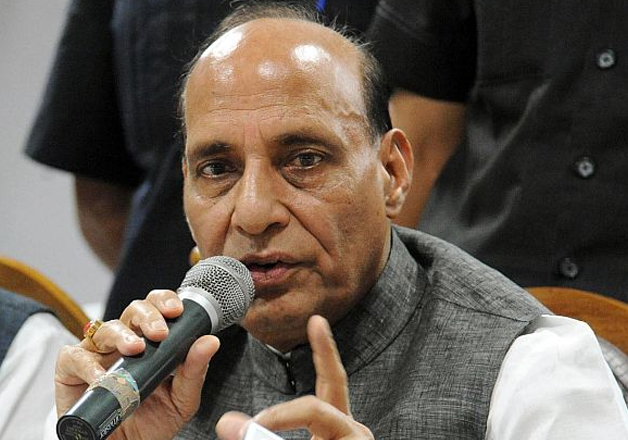 File pic - Union Home Minister Rajnath Singh speaks to