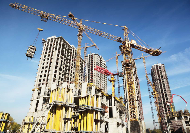 File pic of an underconstruction building in Noida