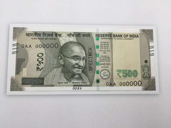 India Tv - New Rs 500 note- Side 1
