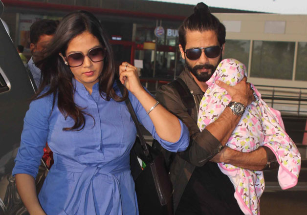 Shahid Kapoor-Mira Rajput take daughter Misha out for her