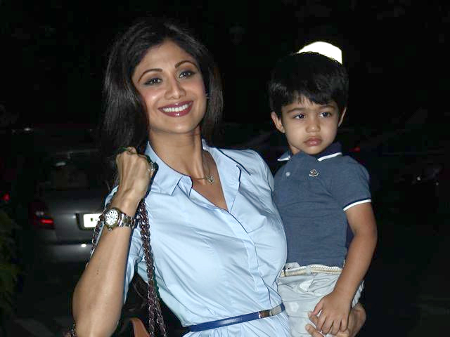 Shilpa Shetty with her son- India tv