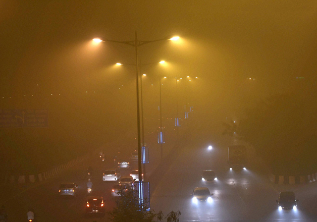 File - Smog engulfs Delhi after Diwali