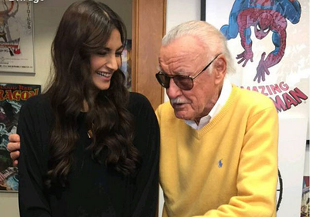 Sonam Kapoor shares a 'superhero' moment with Marvel