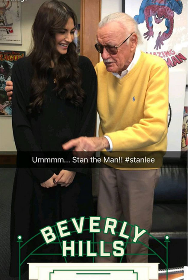 India Tv - Sonam Kapoor with Stan Lee