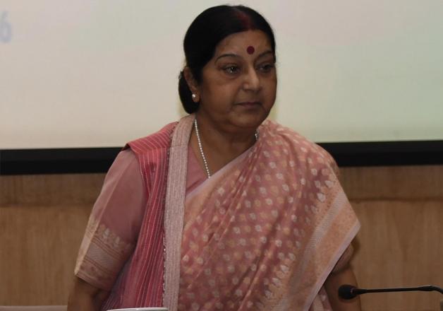 File pic - Sushma Swaraj at an event in New Delhi.