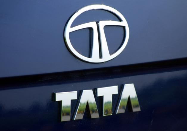 File pic - Logo of Tata Motors