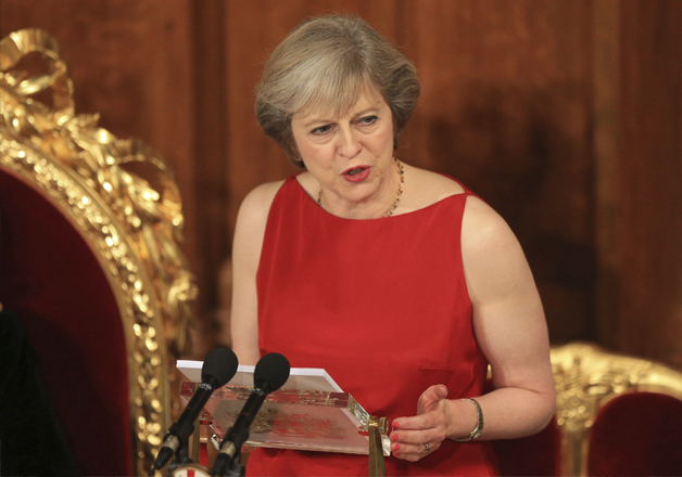 Theresa May speaks at the annual Lord Mayor's Banquet at