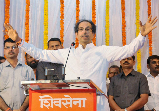 File pic Shiv Sena chief Uddhav Thackeray addressing an