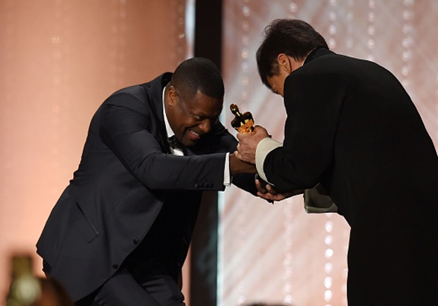 India Tv - Jackie Chan is presented with an Honorary Oscar Award by actor Chris Tucker