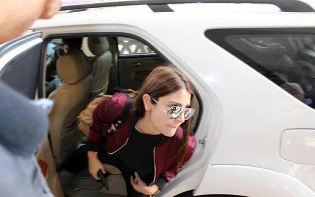 India Tv - Anushka accompanied Virat to Rajkot