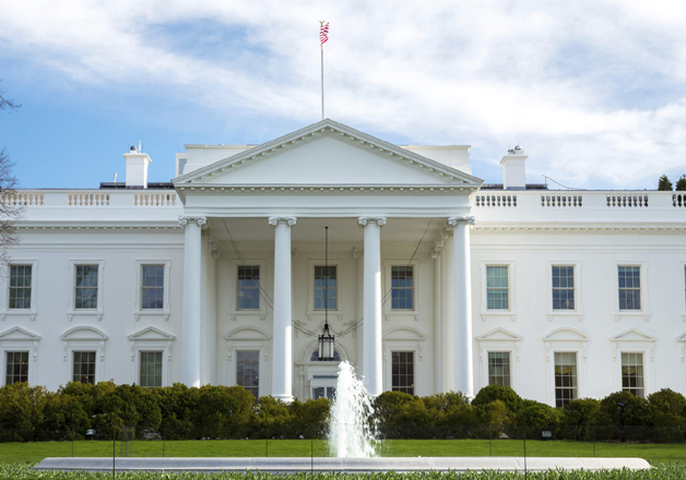 File pic - A outside view of White House