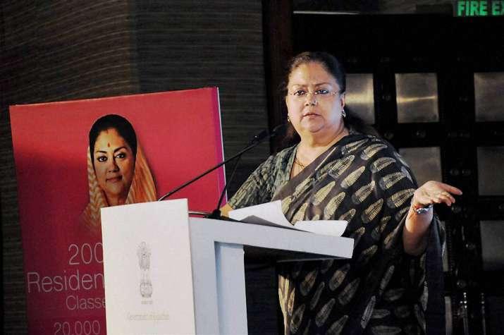 Vasundhara Raje govt has referred controversial bill to