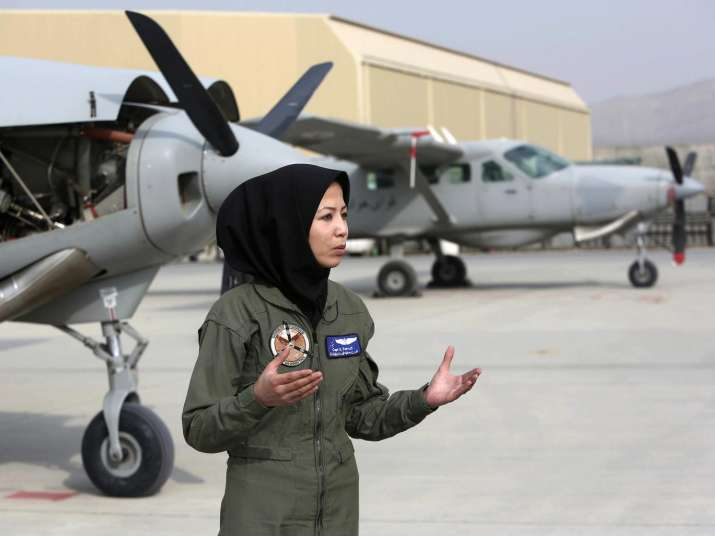 India Tv - Meet Afghanistan's second female pilot who was once a refugee