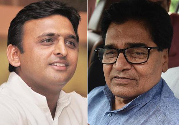 File pic - Akhilesh Yadav and Ramgopal Yadav