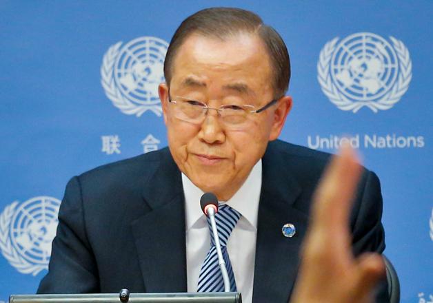 Ban Ki-moon during his final press conference at UN
