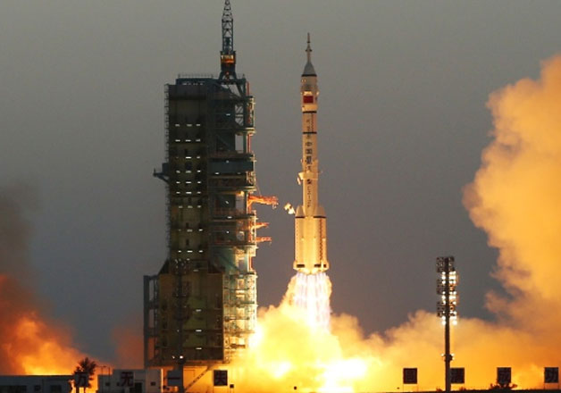 File pic - China put a pair of astronauts in space in