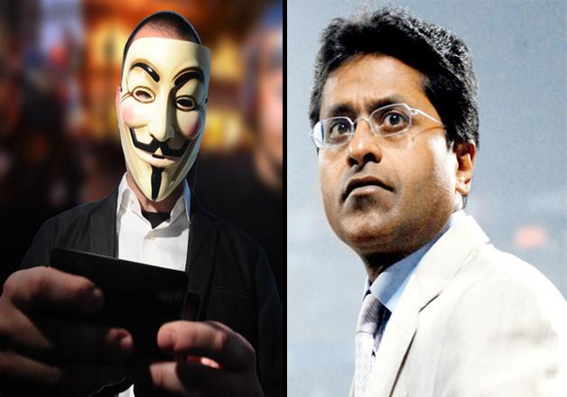 Legion warns of hacking Lalit Modi's Twitter handle