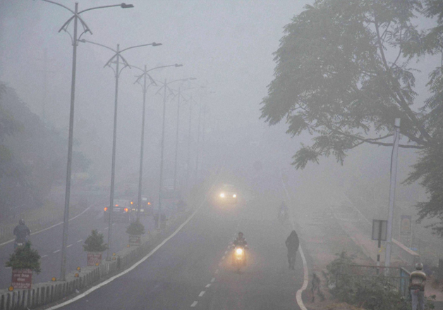 File pic - A view of foggy winter morning in capital
