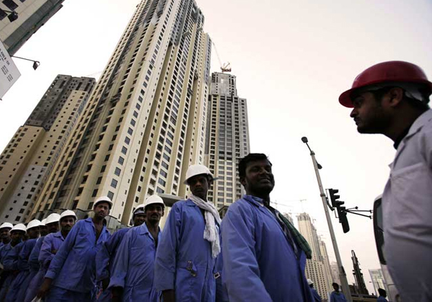 File pic - Indian workers at a construction site in Kuwait