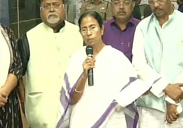 Mamata Banerjee speaks to media outside state secretariat