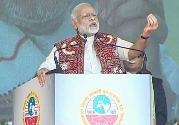 PM Narendra Modi addresses a rally in Banaskantha