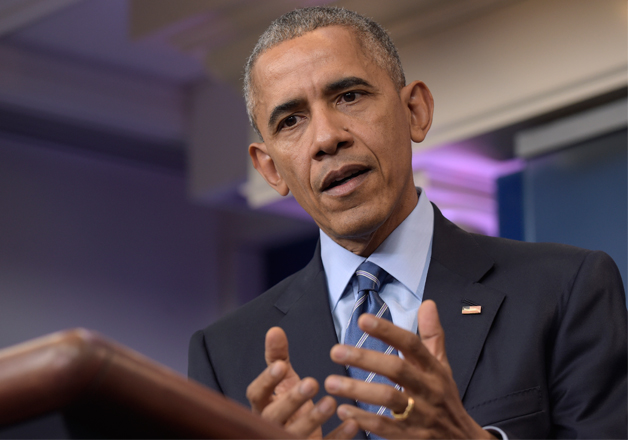 Obama speaks during a news conference on Friday in the