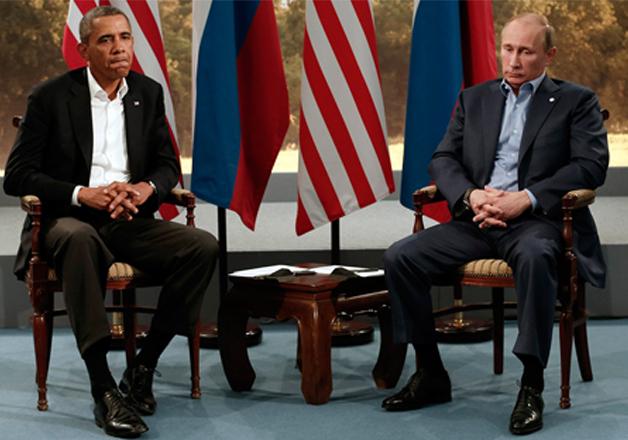 File pic of Barack Obama and Vladimir Putin