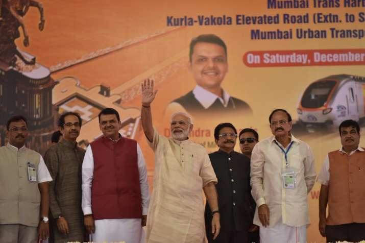 India Tv - PM Modi today laid the Foundation for a grand memorial for Shivaji Maharaj