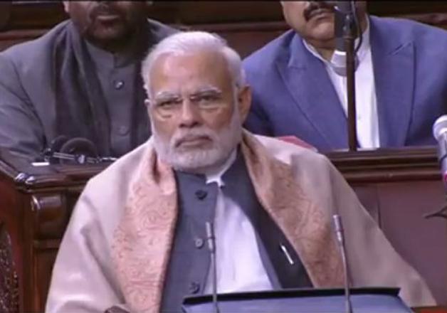 PM Narendra Modi attends Rajya Sabha proceedings on