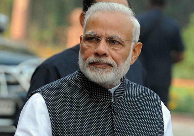 File pic of PM Narendra Modi outside Parliament