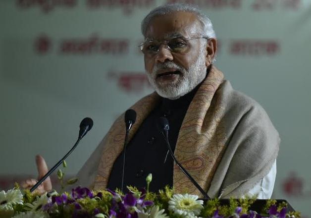 PM Modi speaks at an event in Varanasi